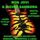 Bon Jovi Guitar TAB Lesson CD 846 TABS 74 Backing Tracks + BONUS Richie Sambora