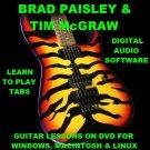 Brad Paisley Guitar TAB Lesson CD 534 TABS 86 Backing Tracks + BONUS Tim McGraw