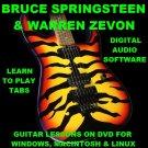 Bruce Springsteen Guitar TAB Lesson CD 670 TABS 57 BTs + BONUS Warren Zevon