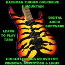 Bachman Turner Overdrive Guitar TAB Lesson CD 90 TABS 11 BTs + BONUS Mountain