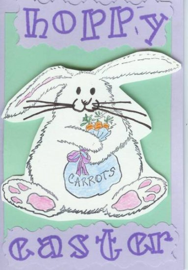 Hoppy Easter Bunny Card