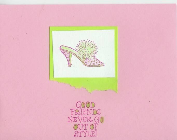 Good Friends Shoe Card