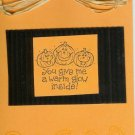Pumpkins & Candy Corns Halloween Card