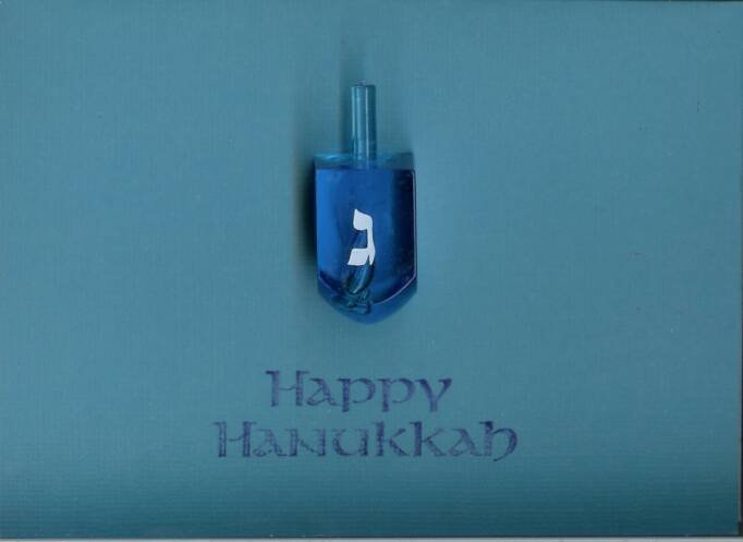 Happy Hanukkah Dreidel Card