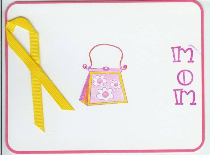 Trimmed in Pink Mom Card