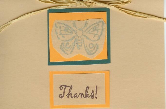 Butterfly Thanks Card