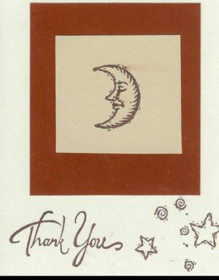 Moon & Stars Thank You Card
