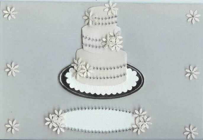 Silver Wedding Cake Card