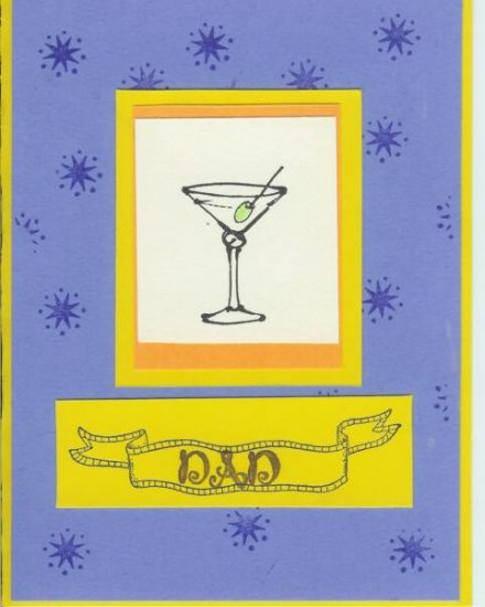 Dad's Martini Card