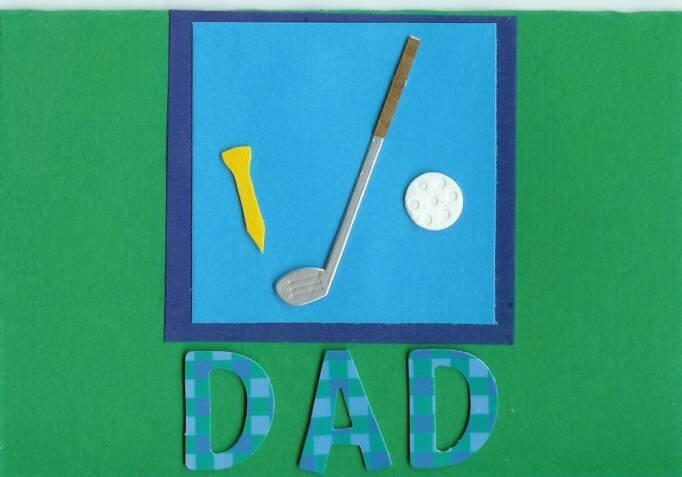 Golfing Dad Card