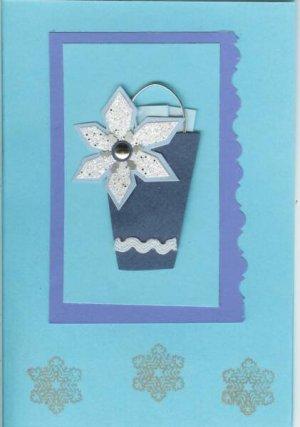 Poinsettia & Snowflake Card