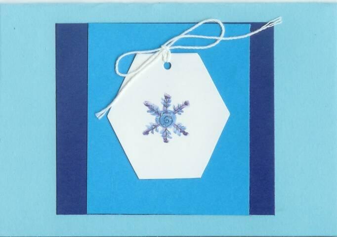 Glittery Snowflake Gift Tag Card