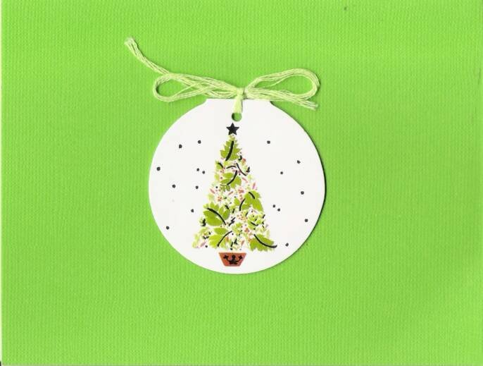 Christmas Tree Gift Tag Card
