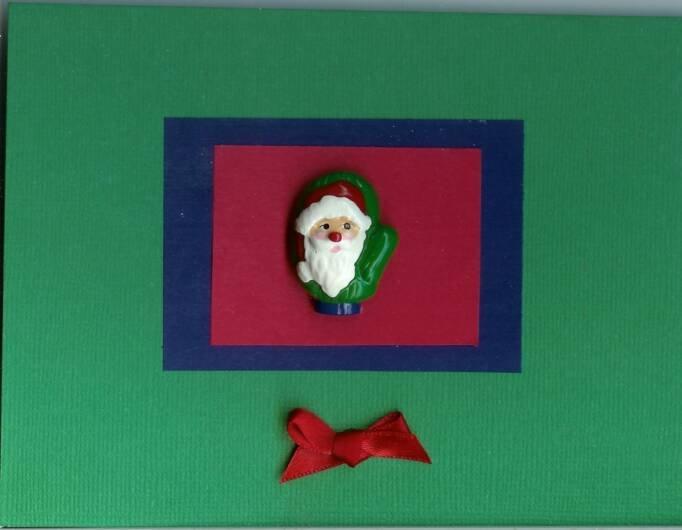 Santa Mitten Card