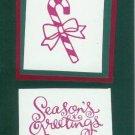 Candy Cane Season's Greetings Card