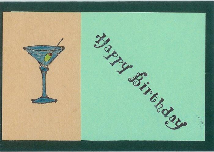 Happy Birthday Martini Card