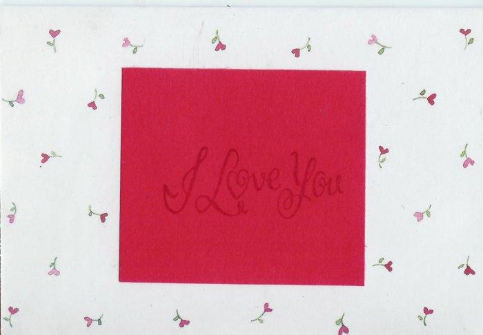 Heart Flowers I Love You Card