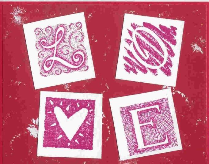 Love Blocks Card