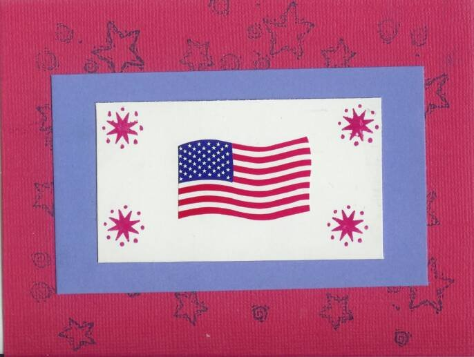 Red, White & Blue Flag Card
