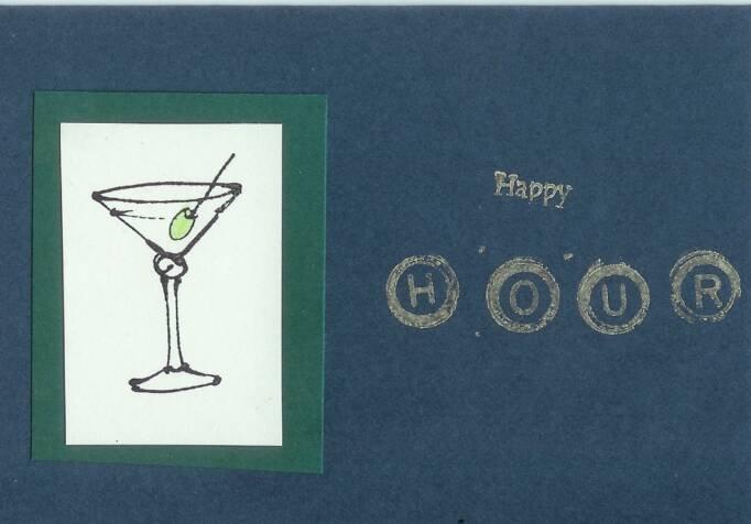 You Deserve a Good Stiff Drink Card