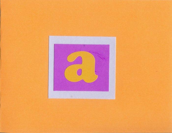 "Custom Initial ""A"" Card-Orange"