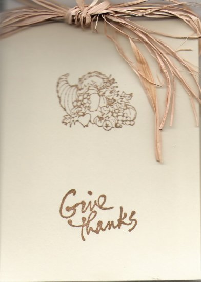 Cornucopia Thanksgiving Card