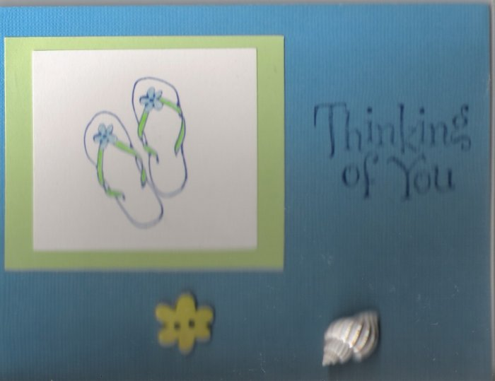 Seashells & Sandals Thinking of You Card