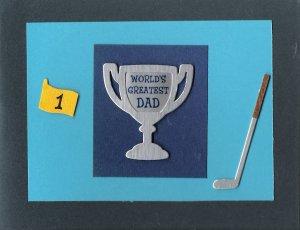 World's Greatest Dad Card-Blue