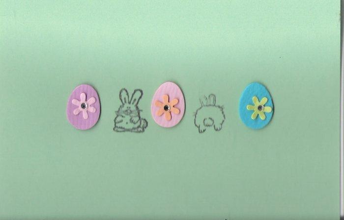 Eggs & Bunnies Easter Card