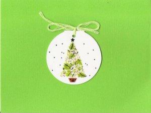 12 Christmas Tree Gift Tag Cards