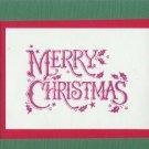 6 Merry Christmas Cards