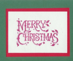 6 Merry Christmas Cards