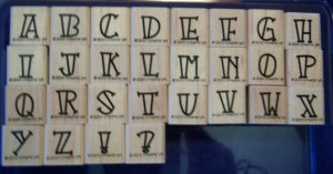 Stampin' Up Bold-Line Alphabet Lower Rubber Stamp Set