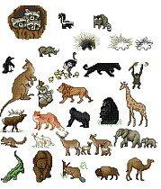 Set of 30 Animal Magnets