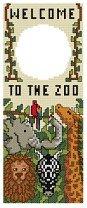 Welcome to the Zoo Door Hanger