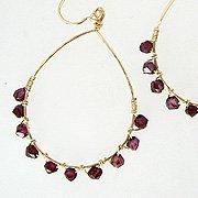 Garnet Wrap Earrings