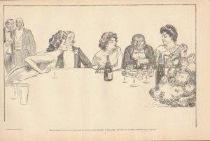 Vintage Art Print The Gibson Girl-Mrs. Katcham Prides Herself - Circa 1907-G-17
