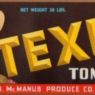 LOT of 10 all the Same Original TEXUS Tomatoes Crate Label Weslaco, Texas