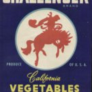 LOT of 10 all the Same Original Challenger Vegetables Crate Label Bucking Horse
