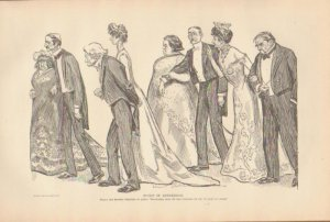 Vintage Art Print The Gibson Girl - Sudy In Expression Circa 1907 --G-29