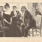 Vintage Art Print The Gibson Girl - She Is The Subject - Circa 1907 --G-13