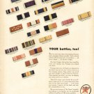 1940s Texaco Air and Oil Company- WW11 Battle Ribbon Print Ad -tva1492