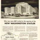 1943 New Washington D.C. Statler Hotels Advertising Print Ad-Building-tva1471
