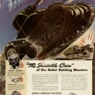 1942 Bendix Aviation Invisible Crew Bullet Belching Monsters Print Ad-tva60