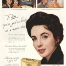 1950 Lux Beauty Soap Elizabeth Taylor Movie Giant Advertising Print Ad tva1474