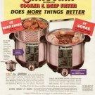 1954 Sunbeam Cooker and Deep Fryer  Advertising Print Ad -tva2349