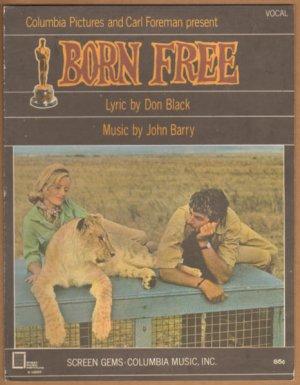 Vintage Sheet Music Born Free Movie -Columbia Music 1966