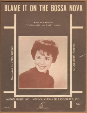 Vintage Sheet Music Blame It On The Bossa Nova 1962