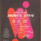 Vintage Sheet Music Dear Mister Santa Claus - New Musical Here's Love 1963
