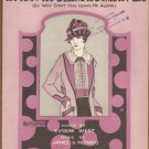 Vintage Sheet Music - You Know You Belong To Somebody Else Erving Berlin 1922